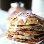 Birthday Cake Pancakes! The perfect special breakfast! OBSESSED with these!