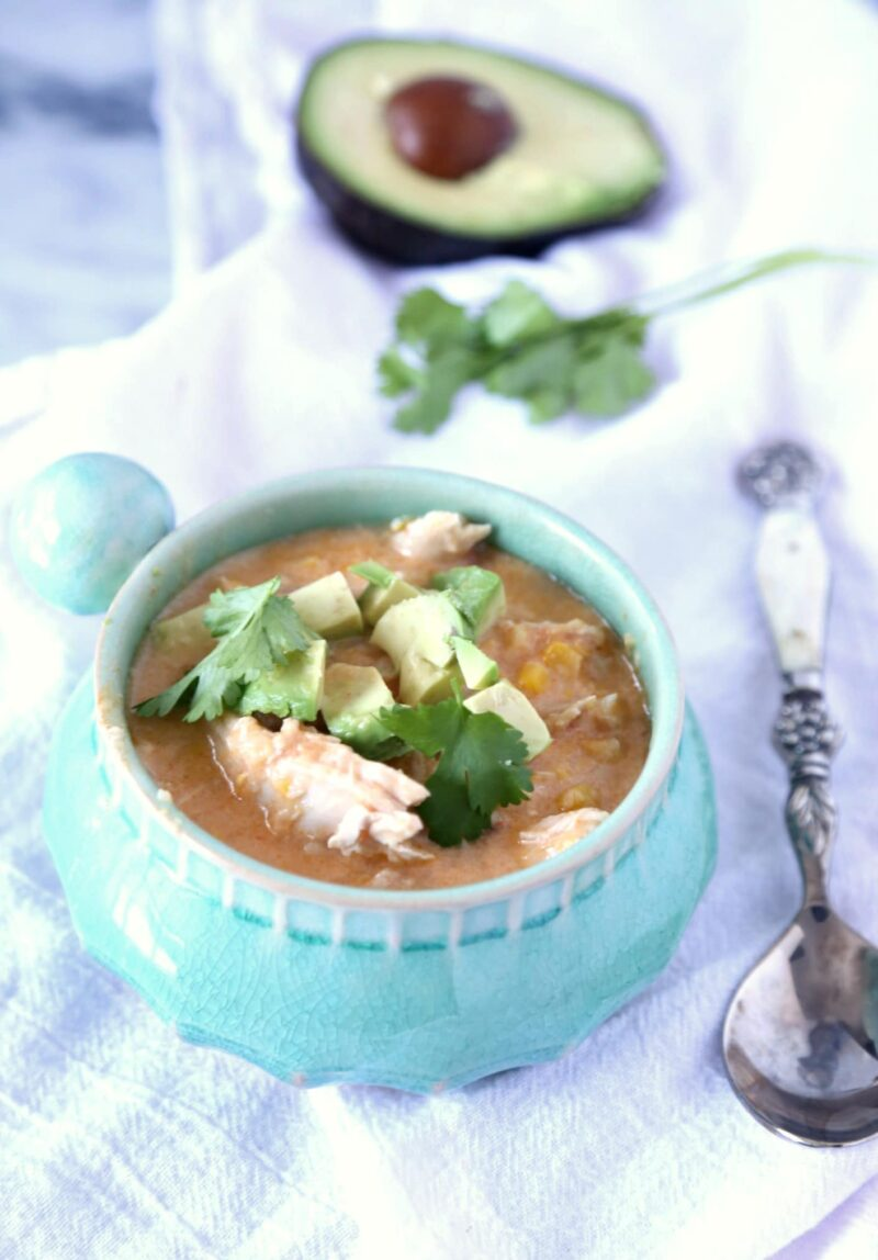 Creamy Chipotle Chicken Corn Chowder
