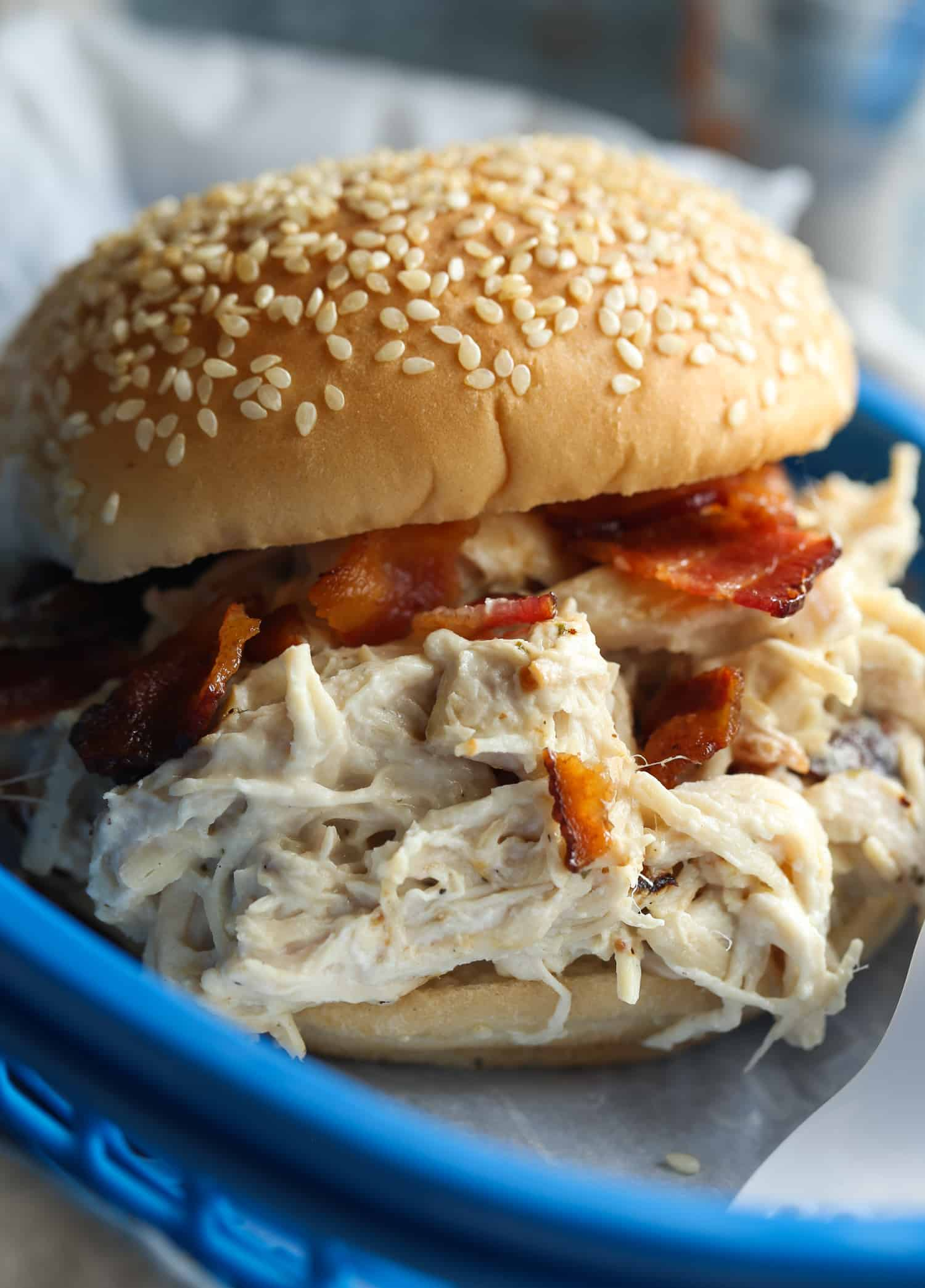 slow cooker shredded chicken recipe
