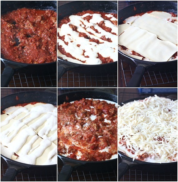 lasagna collage