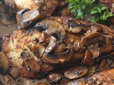 This Skillet Balsamic Garlic CHicken is an easy and incredibly flavorful dish! We love this!