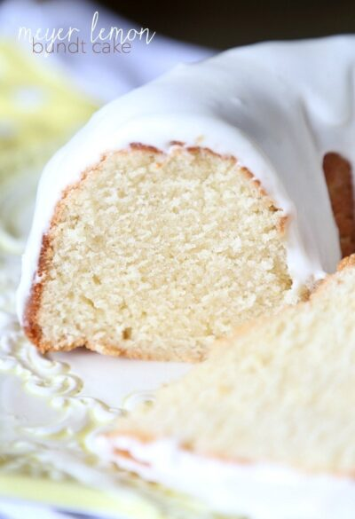 Meyer Lemon Bundt Cake...super soft and perfectly sweet!