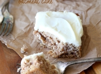 Old Fashioned Oatmeal Cake with cream cheese frosting. So simple and so so good!