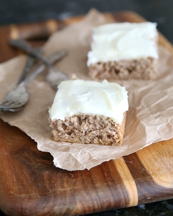 Old Fashioned Oatmeal Cake with cream cheese frosting. So simple and such a great way to use up extra oatmeal!