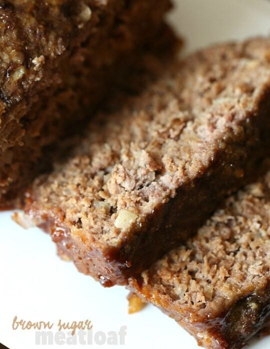 Brown Sugar Meatloaf is an easy weeknight meat that combines sweet and savory in a classic dish!