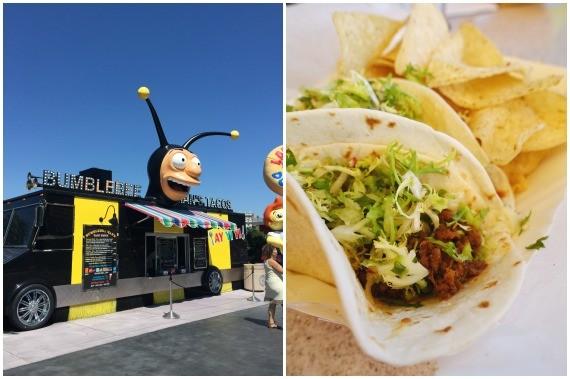 Korean Beef Tacos at Bumblebee Taco Truck in Universal Studios