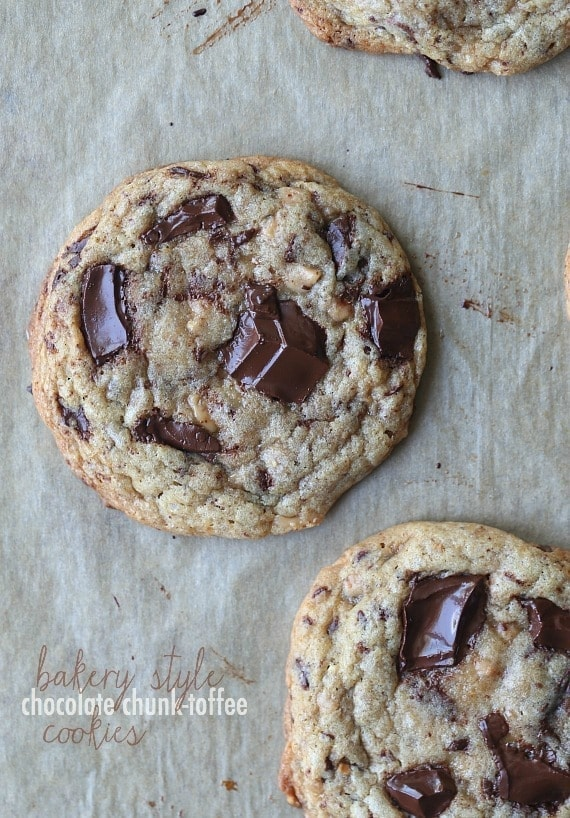 Cookies and Cups Bakery Style Chocolate Chunk Toffee Cookies - Cookies ...