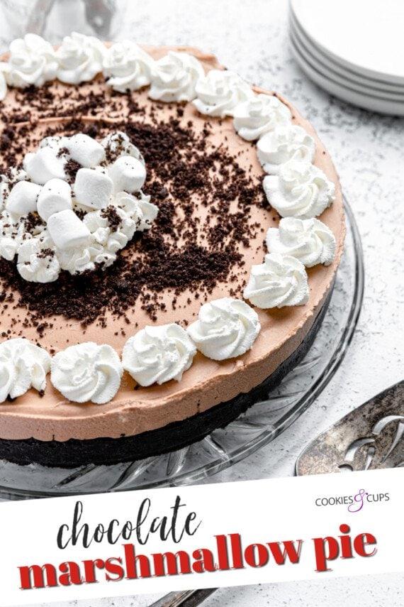 Chocolate Marshmallow Pie Pinterest Image