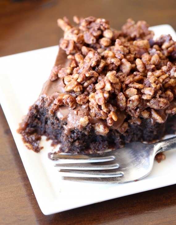 Nutella Crunch Cake