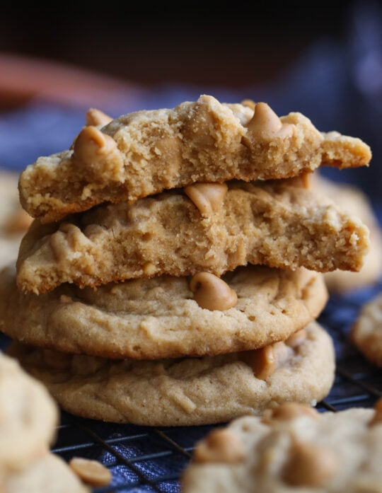 Melty, soft centers are the best in my soft peanut butter cookie recipe!
