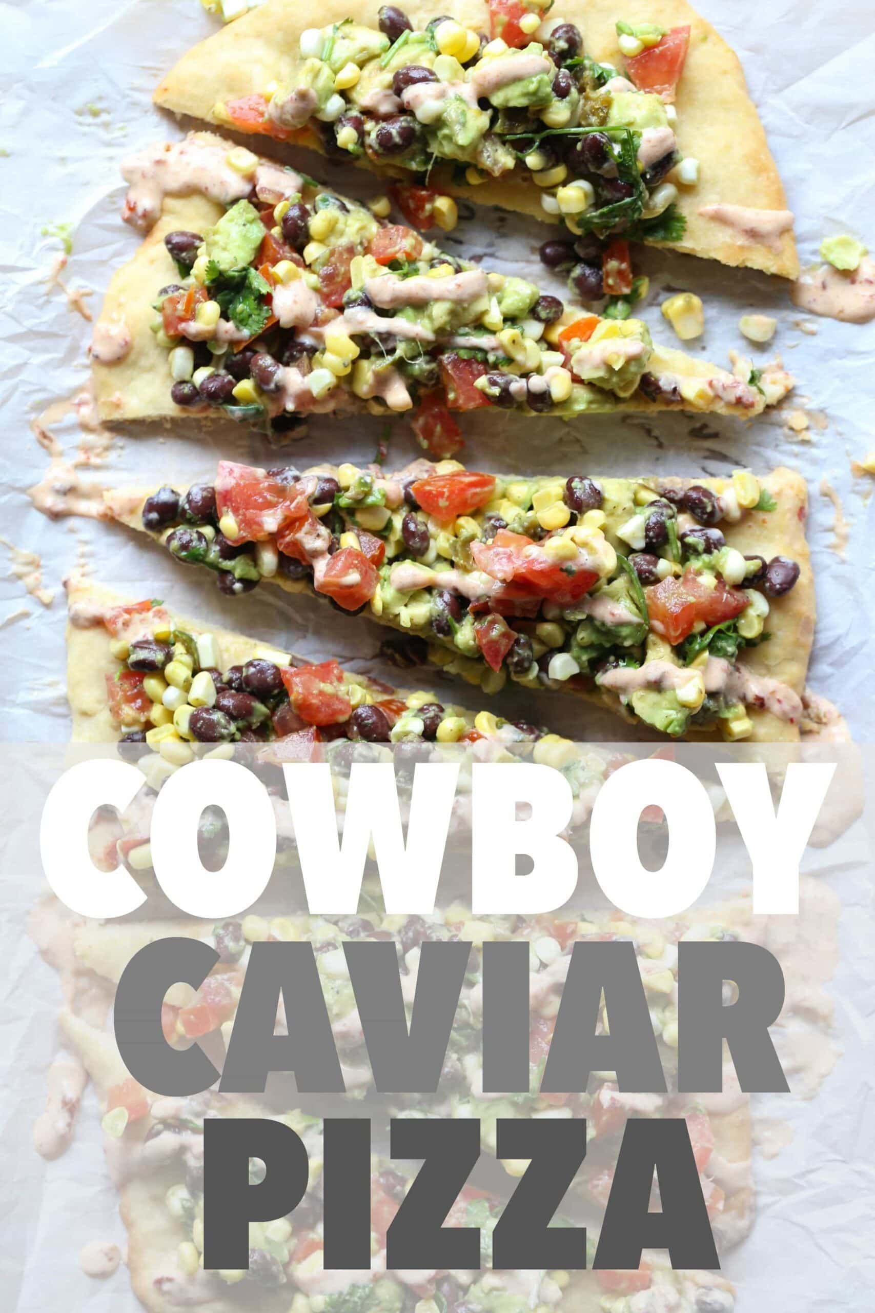 Cowboy Caviar Pizza ~ A simple pizza that's perfect for an appetizer or a light dinner!