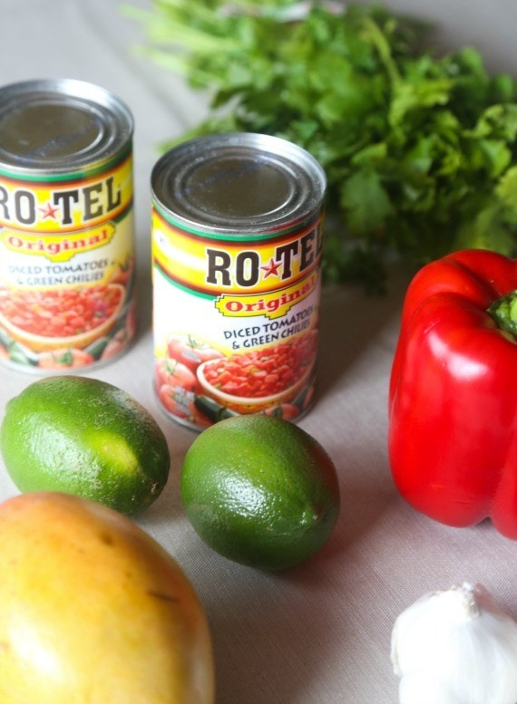 This sweet and savory fruit salsa goes perfect on grilled meat or even eaten with chips!