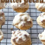 Glazed Butter Pecan Cookies! These cookies have a super fun secret ingredient! Love it!