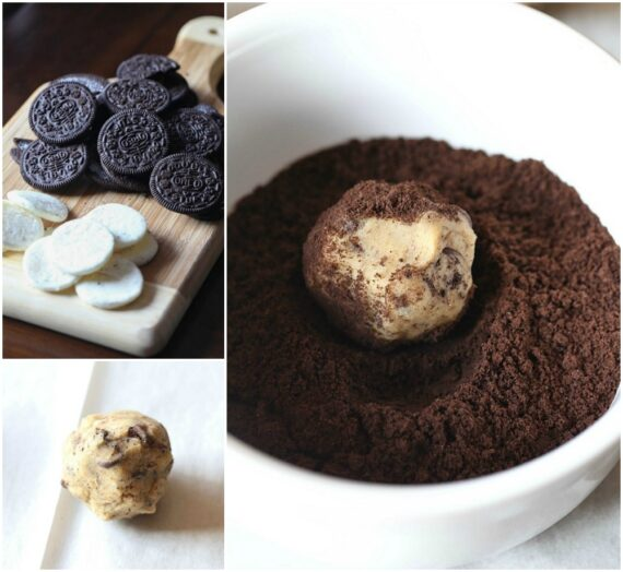 making dirty chocolate chip cookies collage