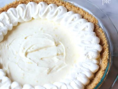 Lemon Cheesecake Pie with Lemon Whipped Cream