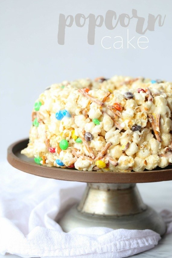 Popcorn Cake Super Quick And Easy No Bake Cake Recipe
