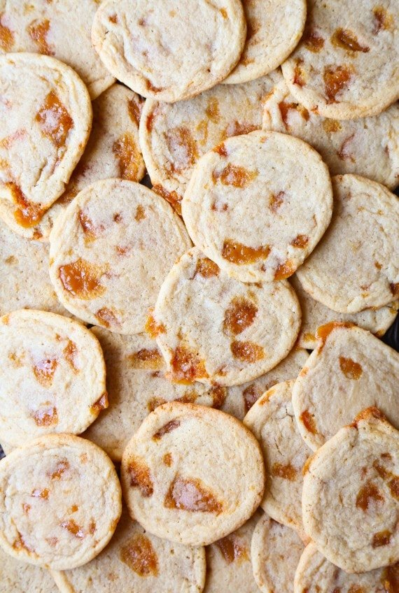 These Butter Crunch cookies are a favorite in my house. My mom used to make them and they are buttery, chewy and loaded with homemade toffee!!
