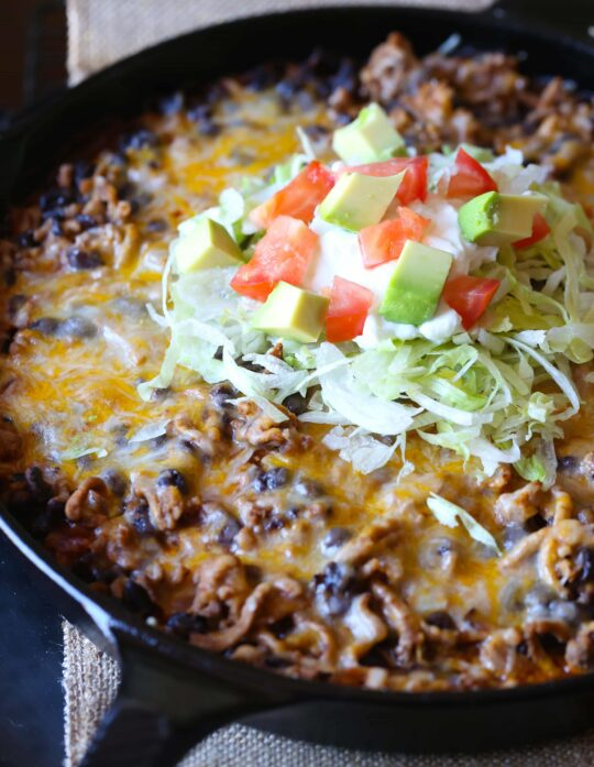 Easy Skillet Tamale Pie