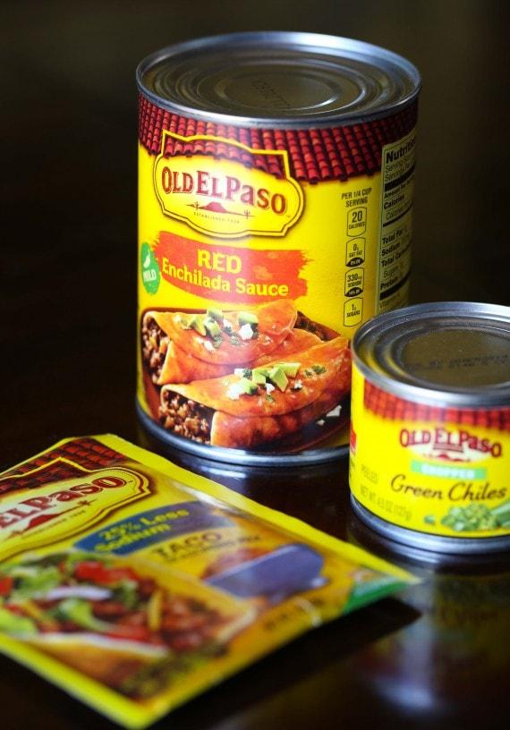 Ingredients for Easy Skillet Tamale Pie