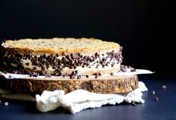 A Chipwich CAKE! The classic ice cream man treat turned into a dessert to feed a crowd!