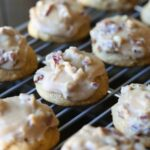 SOft Pumpkin Cookies topped with a rich, buttery Praline Frosting...the perfect combo!
