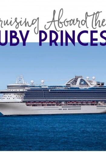 A large Princess cruise ship sailing over the ocean off the coast of California