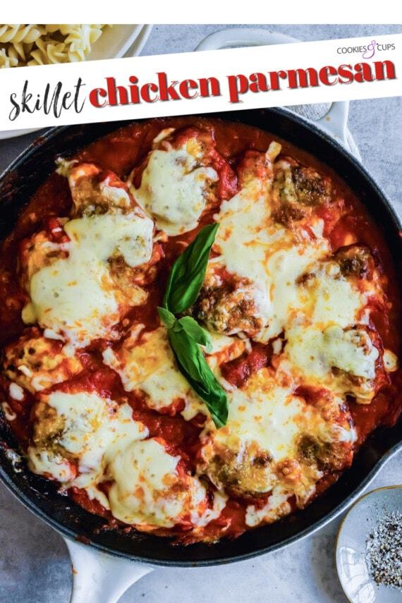 Skillet Chicken Parmesan Pinterest Image