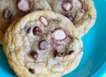 Whoppers Chocolate Chip Cookies...soft, chewy and packed with Whoppers!