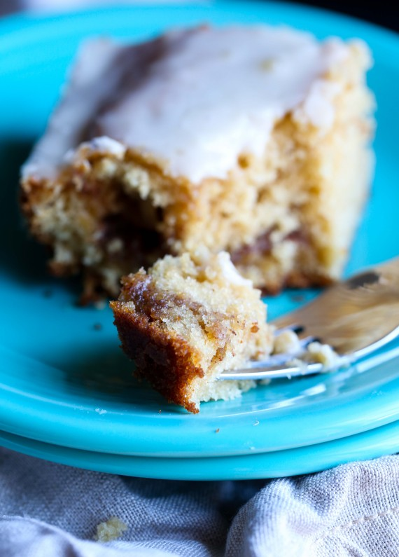 This Honeybun Cake is ridiculously moist, simple to make and coated in a sugary-honey glaze that makes to extra delicious!