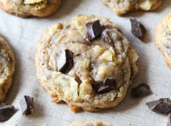 Kettle Chip Chocolate Chunk Cookies...Ooey gooey, salty and sweet!