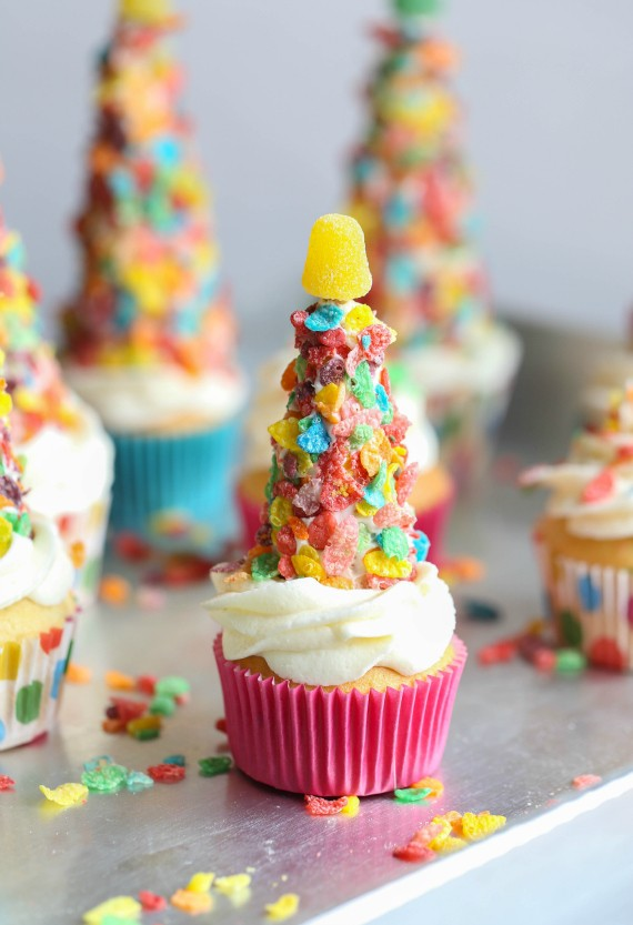 Fruity Pebble Party Hats Cookies And Cups