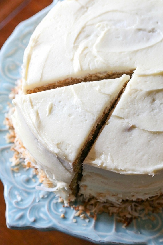 The Best Banana Cake is an easy banana recipe topped with cream cheese frosting