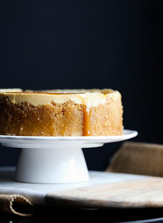 This Pressure Cooker Salted Caramel Cheesecake was made in my Instant Pot!