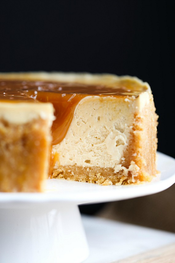 This Instant Pot Salted Caramel Cheesecake was made in the pressure cooker.