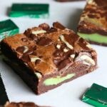 Mint Fudge Stuffed brownies...these are super chocolaty stuffed with an epic white chocolate mint filling! SO GOOD!