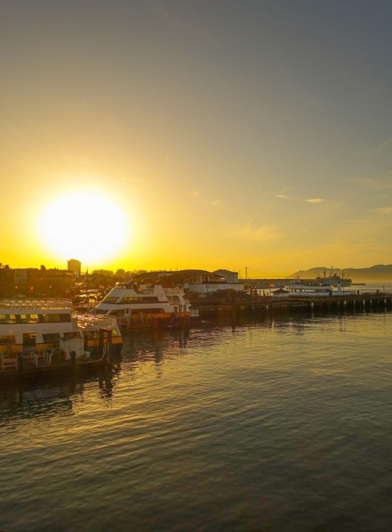 Sunset at Fisherman's Wharf