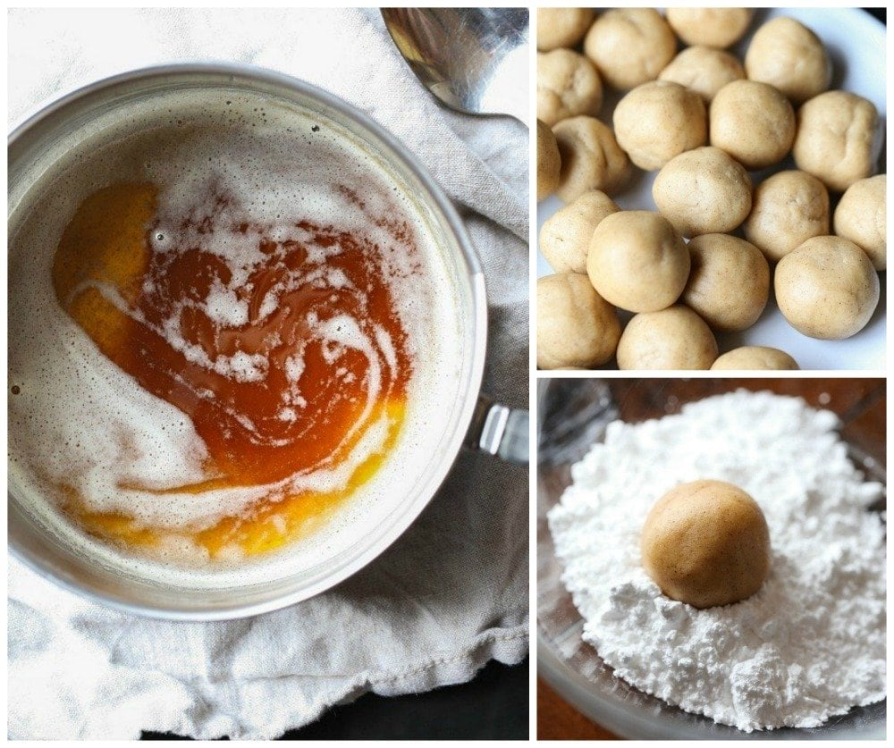How To Make Brown Butter Crinkle Cookies Collage