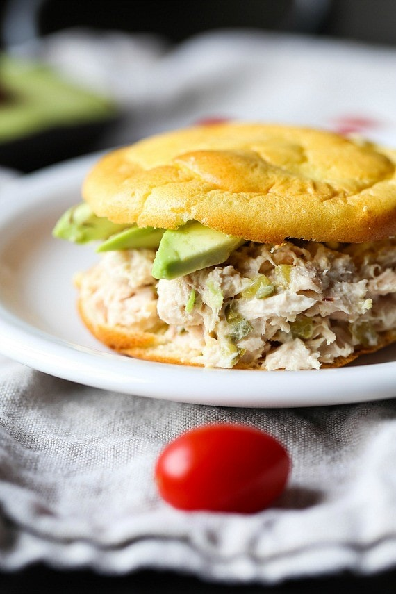 Tuna Sandwich made using Cloud Bread