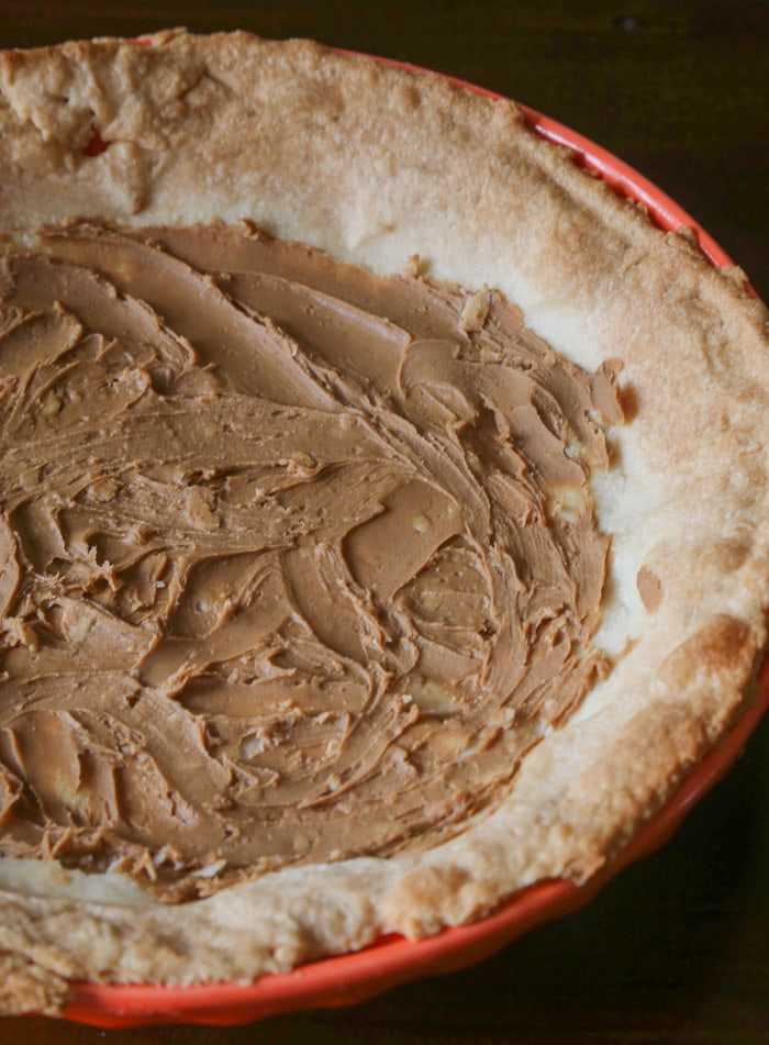 Cookie Butter Spread on Top of a Baked Cream Cheese Pastry Crust
