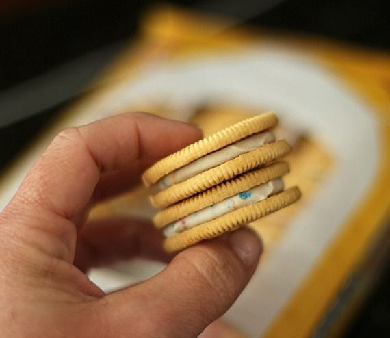 Image of Two Birthday Cake Oreos