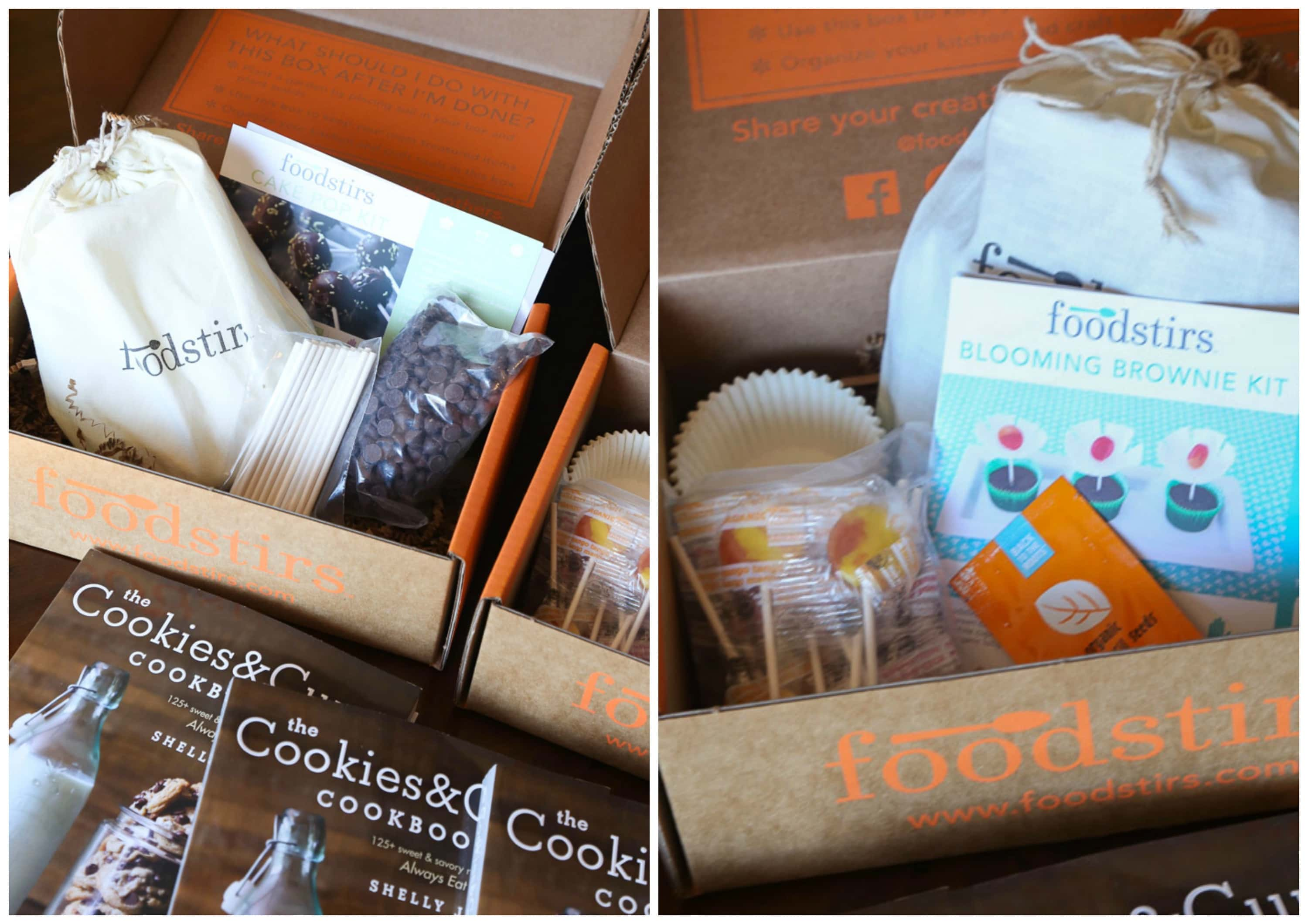 A Collage of Two Images of Foodstirs Food and Other Giveaway Prizes