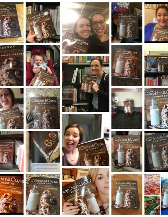 The Cookies & Cups Cookbook Selfie!