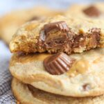 Swirled Peanut Butter Cup Cookies! Creamy Ribbons of peanut butter loaded with peanut butter cups!