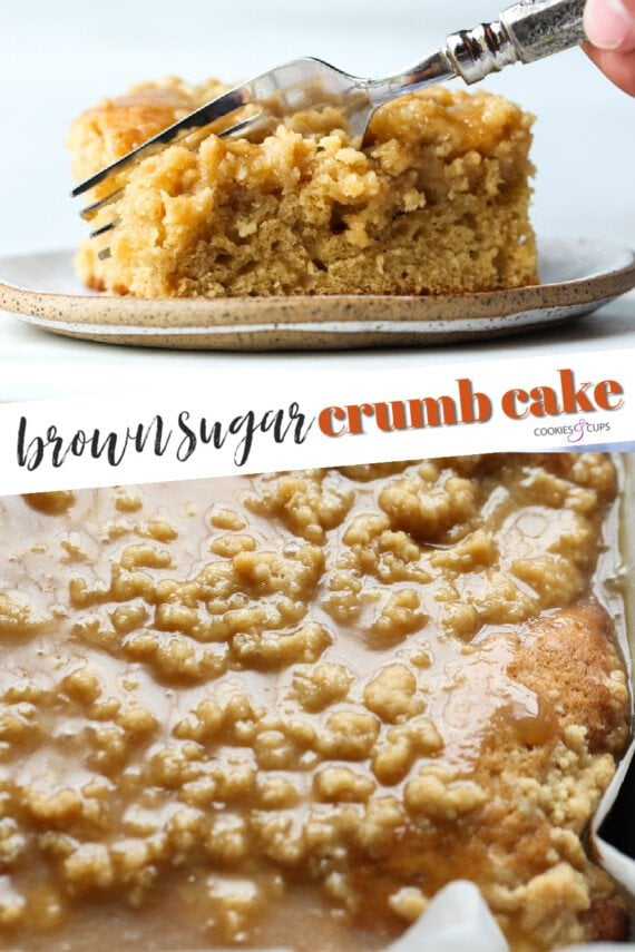 Brown Sugar Crumb Cake Pinterest Image