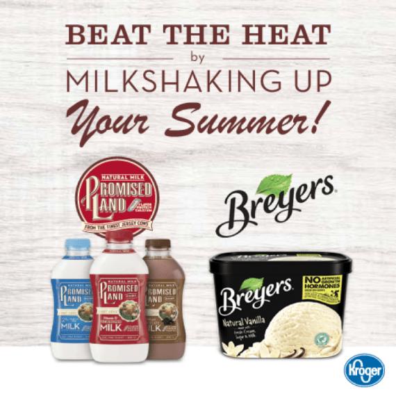 Rainbow Chip Brownie Milkshake to beat the summer heat! SImple and SUPER creamy! #MyMilkshakeUp #Kroger #partner