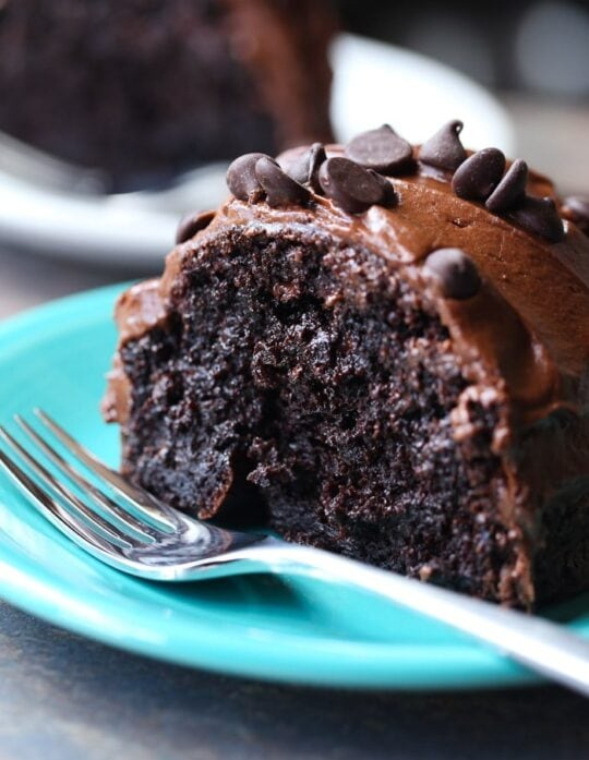 The most RIDICULOUS Chocolate Cake I've ever made. Seriously delicious and crazy moist.