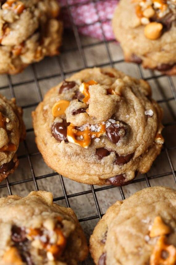 Sea Salt Butterscotch Pretzel Cookies