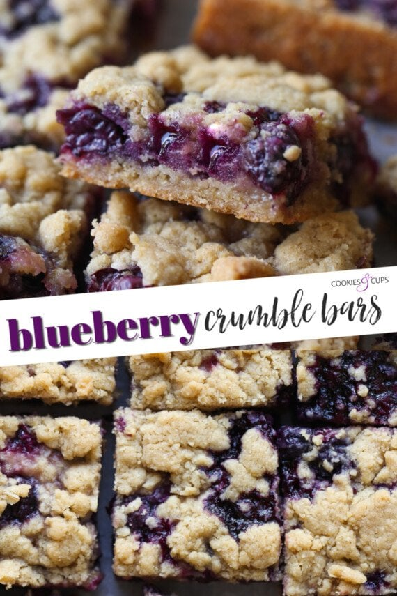 Blueberry Crumble Bars Pinterest Image