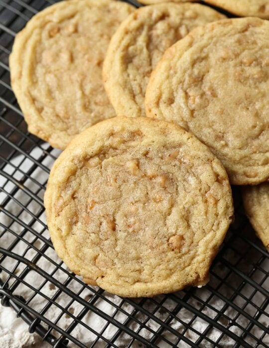 Butter Toffee Cookies ... simple, rich and buttery. Possibly the perfect cookie!