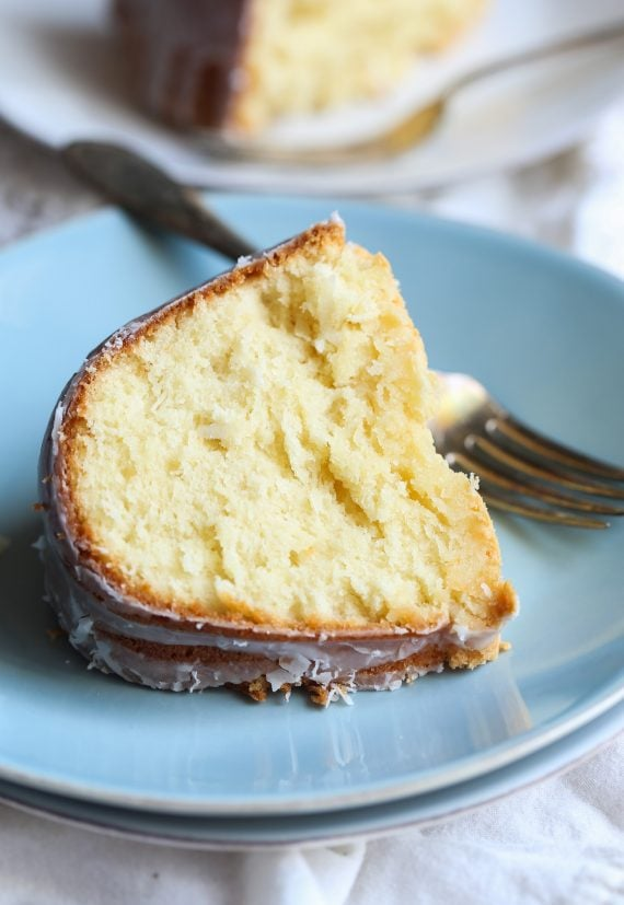 Coconut Cream Cheese Pound Cake - Cookies and Cups